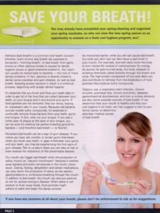 Dental Health Newsletter